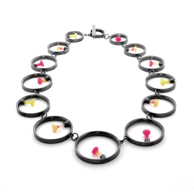 14 round polyps necklace, Polyps, jenny llewellyn, silicone jewellery, silicone, silicon