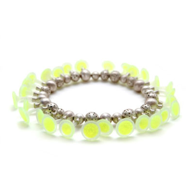 Lumini, necklace, green, jenny llewellyn silicone jewellery