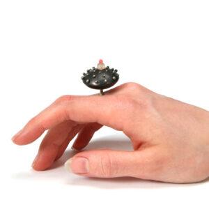 Podimorph, pod ring, jenny llewellyn silicone jewellery