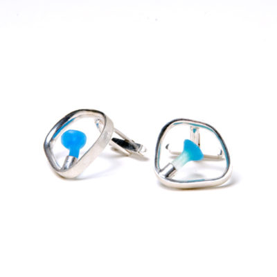 polyps cufflinks, Polyps, jenny llewellyn, silicone jewellery, silicone, silicon