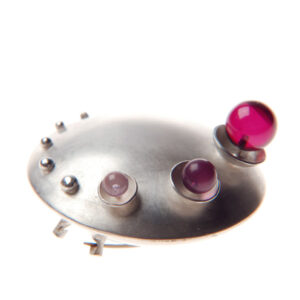 Podimorph, silver, pod, brooch, ring, oxidosed silver, slicone, jewellery, jenny llewellyn, silicone jewellery, silicon