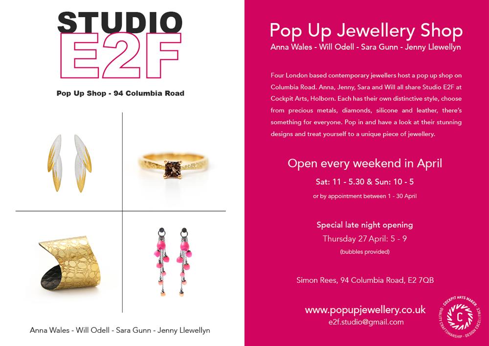Studio E2F pop up shop