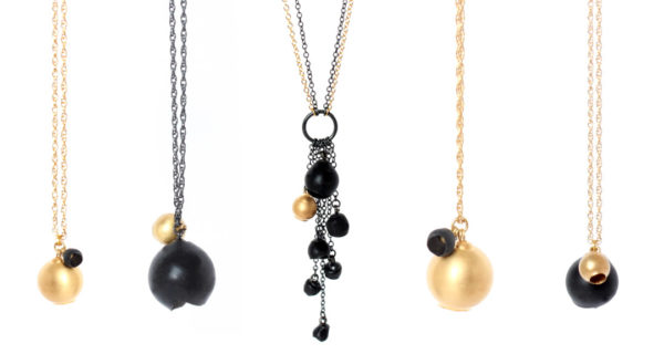 chromophobia collection, jenny llewellyn, luminescent silicone and precious metal jewellery