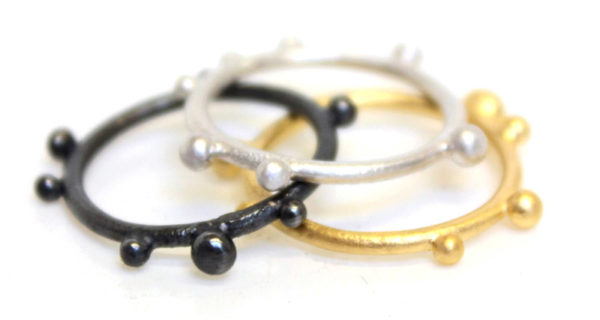 corilia, jenny llewellyn, jewellery, silicone jewellery, silicone, silver, gold, ring, rings