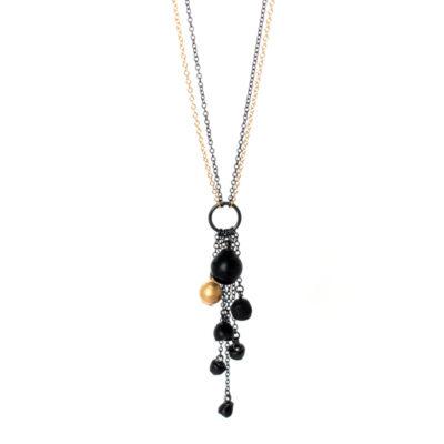 Chromophobia cascade pendant, jenny llewellyn, silicone jewellery, jewellery, silicone, silicon, jewelry, black