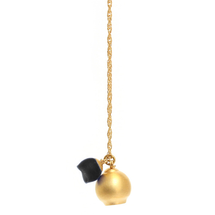 chromophobia pendant, gold plate, black silicone, jenny llewellyn, silicone jewellery