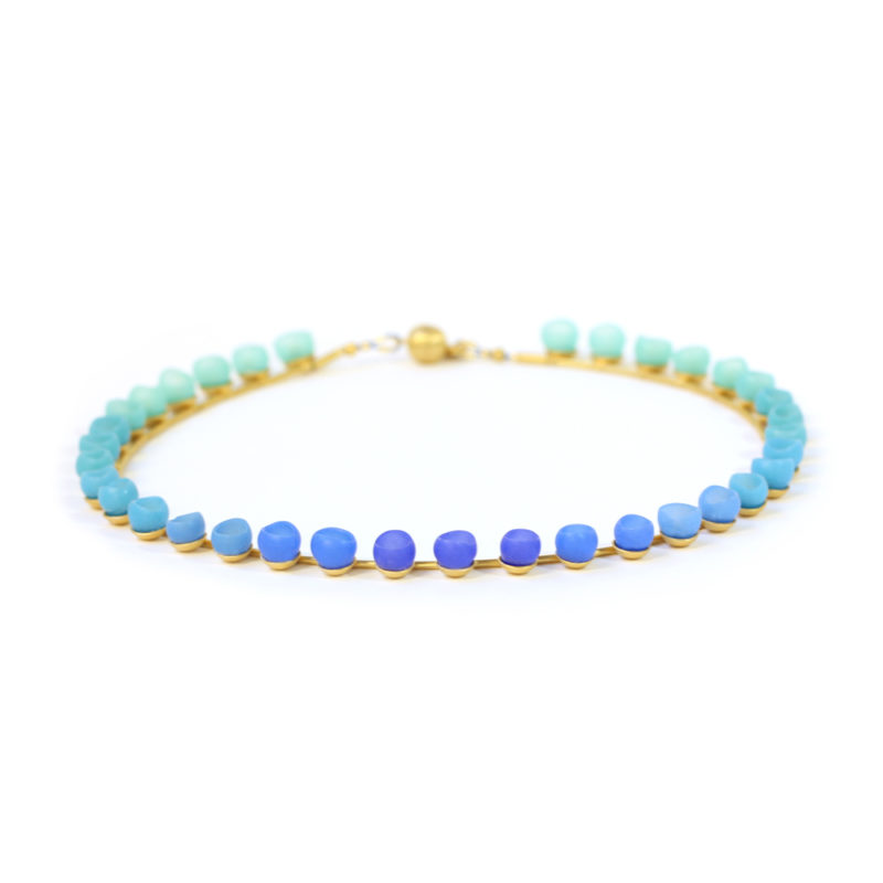 Blue green colour fade necklace GP