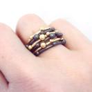 Corilia stacking ring, oxidised, silver, black rhodium,jenny llewellyn jewellery