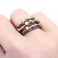 Corilia stacking rings worn