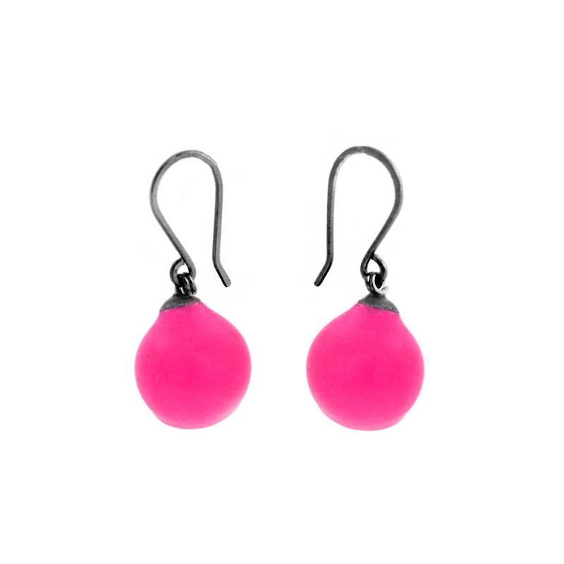 Pink single 1 cup drop earrings