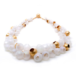 who needs pearls, jenny llewellyn, silicone jewellery, gold plated, necklace