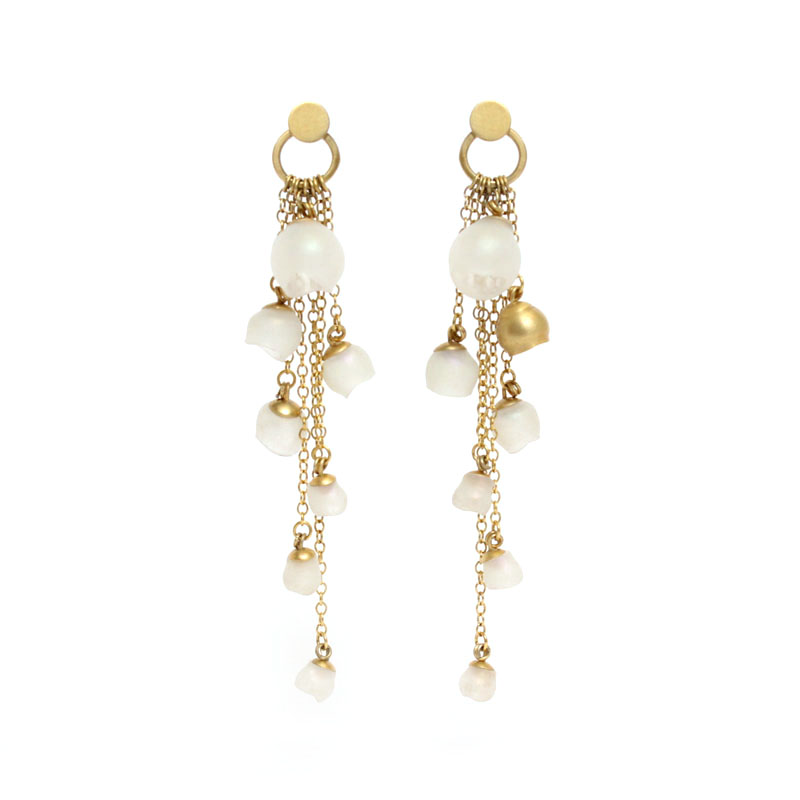 large earrings cascade main nude