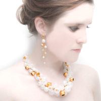 WNP necklace and cascade earrings
