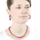Plume hoops, jenny llewellyn, silicone jewellery, oxidised silver, pink orange fade