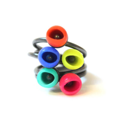 mix up look sharp rings, jenny llewellyn, silicone jewellery, oxidised silver