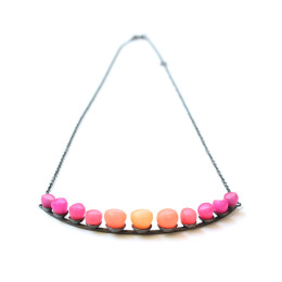 Half colour fade necklace 1 jenny llewellyn