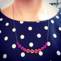 Half colour fade necklace worn jenny llewellyn