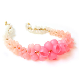 Pastel pearl Plume necklace Jenny Llewellyn