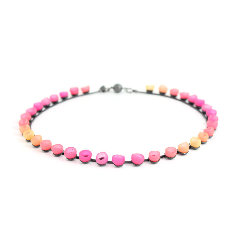 plume colour fade necklace pink orange