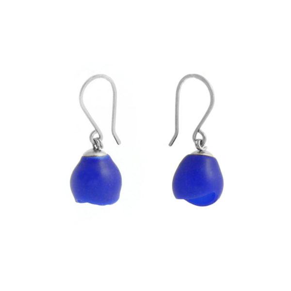 single drops silver blue