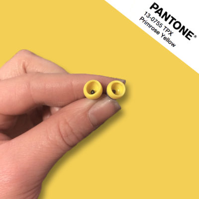 Primrose Yellow pantone colour match studs