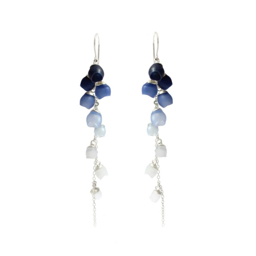Single Cascade earrings Navy fade